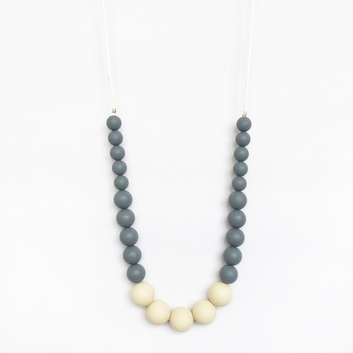 Color Block Silicone Necklace - Grey