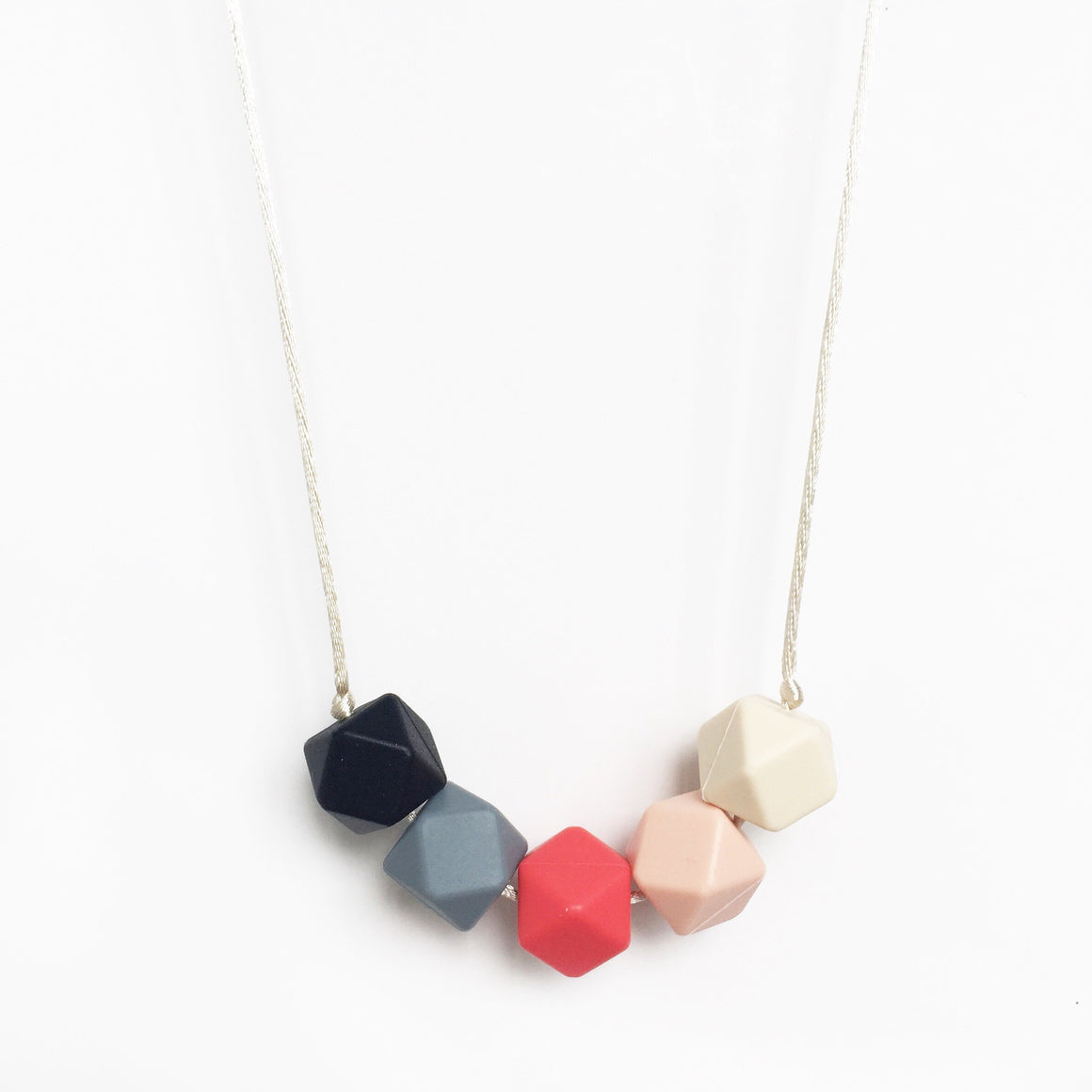 Geo Silicone Necklace - Ruby