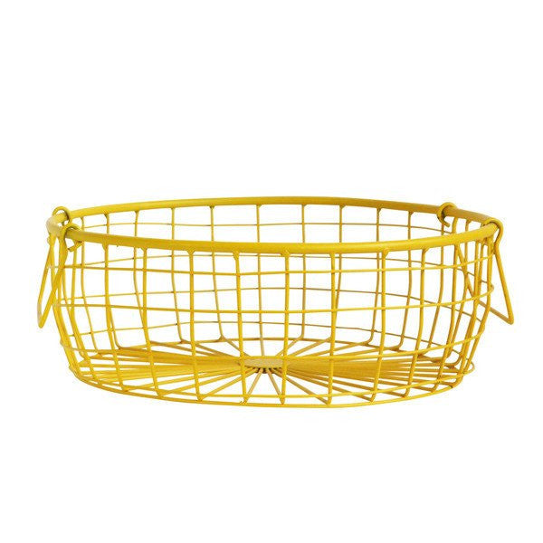 Low Wire Basket - Yellow
