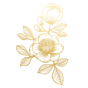 Gold Floral Temporary Tattoo Set
