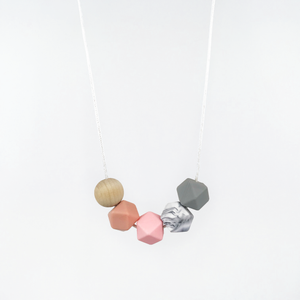 Hex Necklace - Rose Quartz