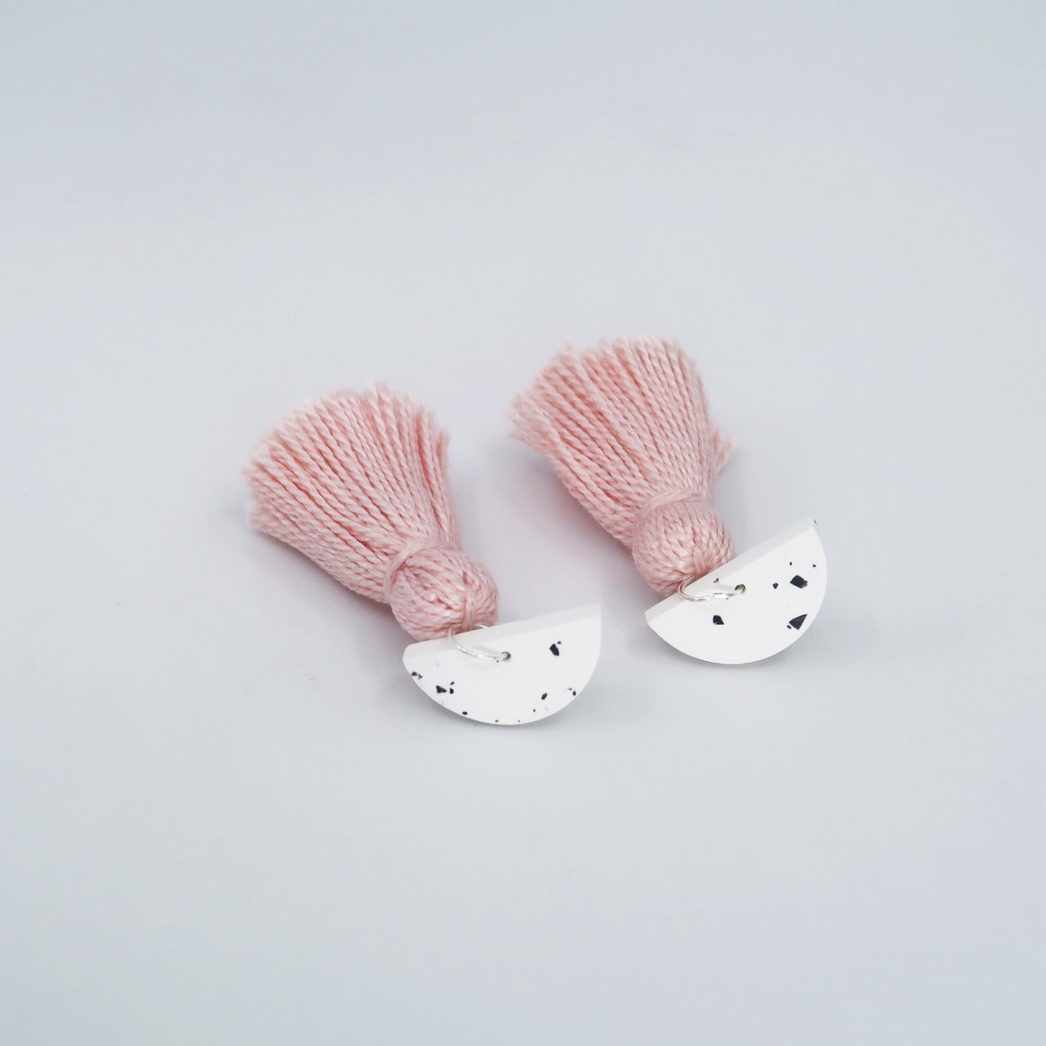 Speckle Tassel Earrings - Blush