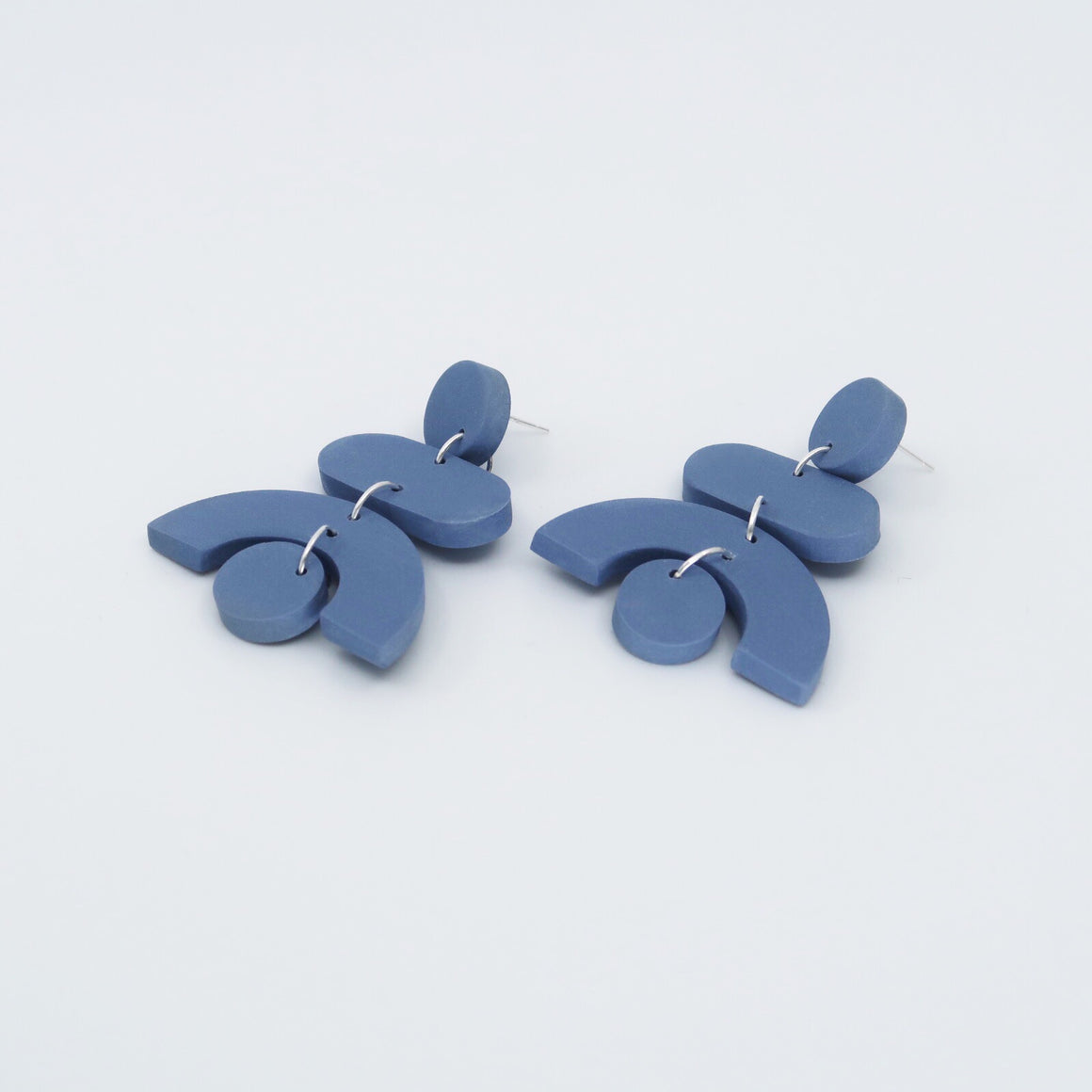 Pendulum Earrings - Dusty Blue