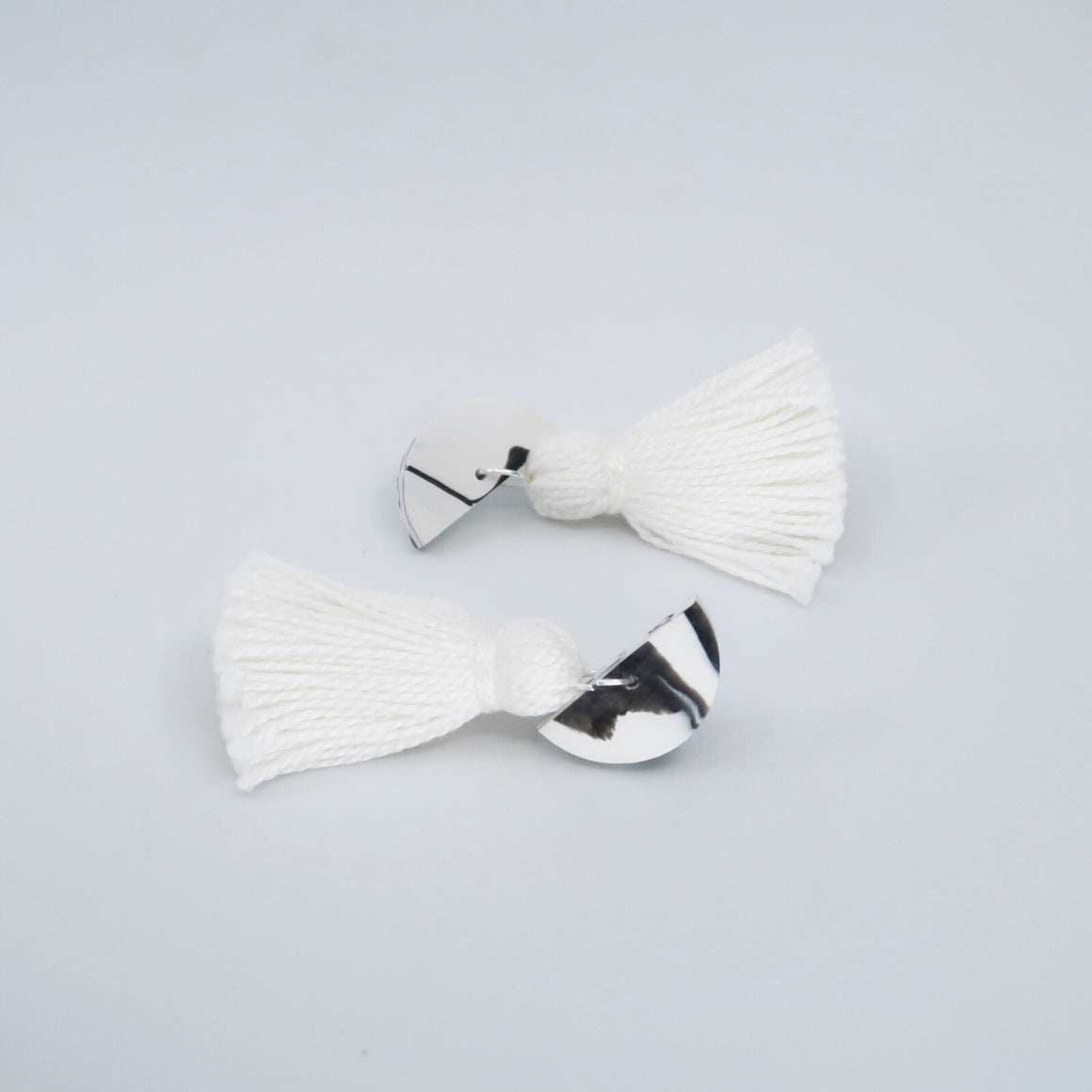 Marble Tassel Earrings