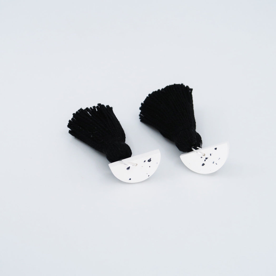 Speckle Tassel Earrings - Black