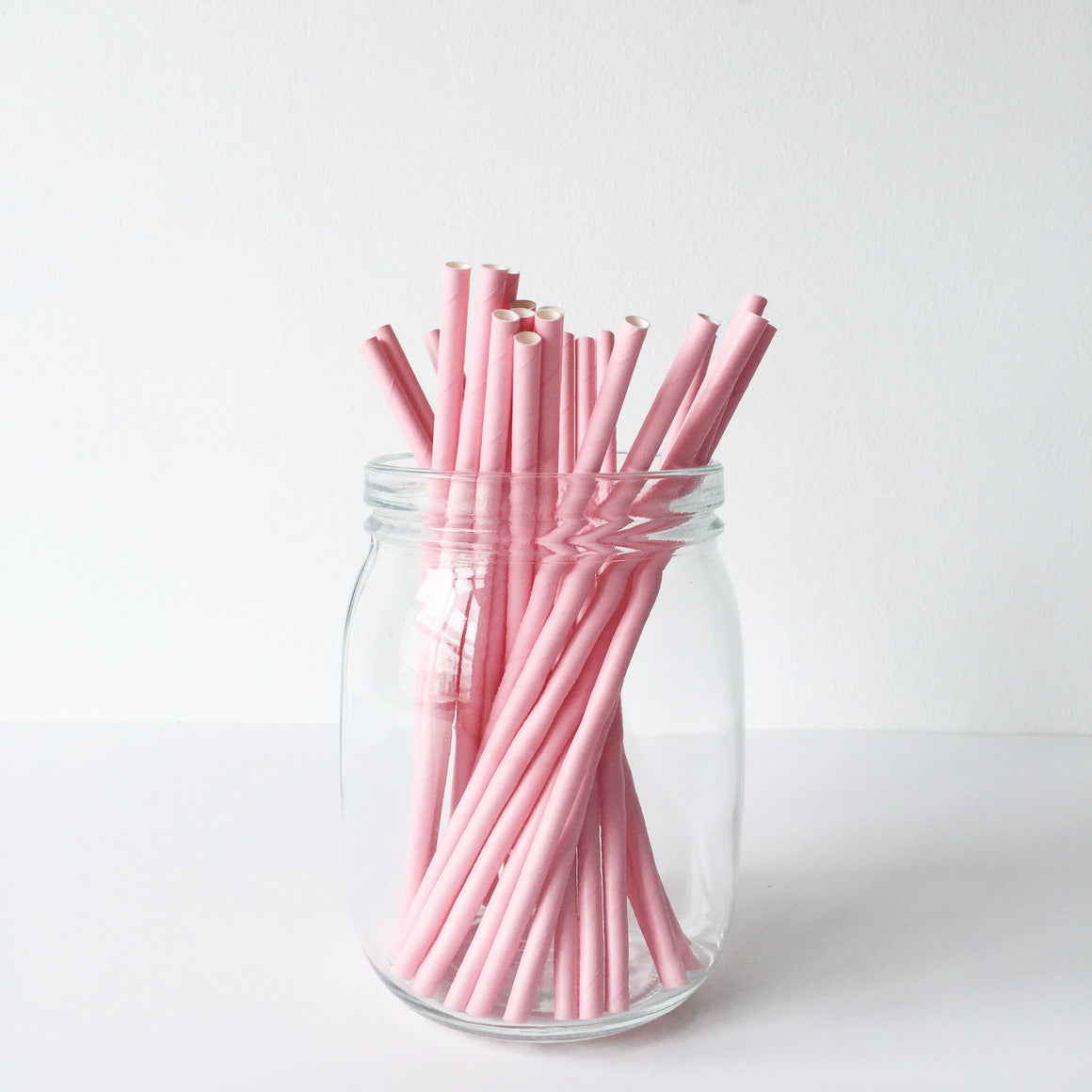 Paper Straws - Solid Pink