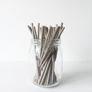 Paper Straws - Solid Grey