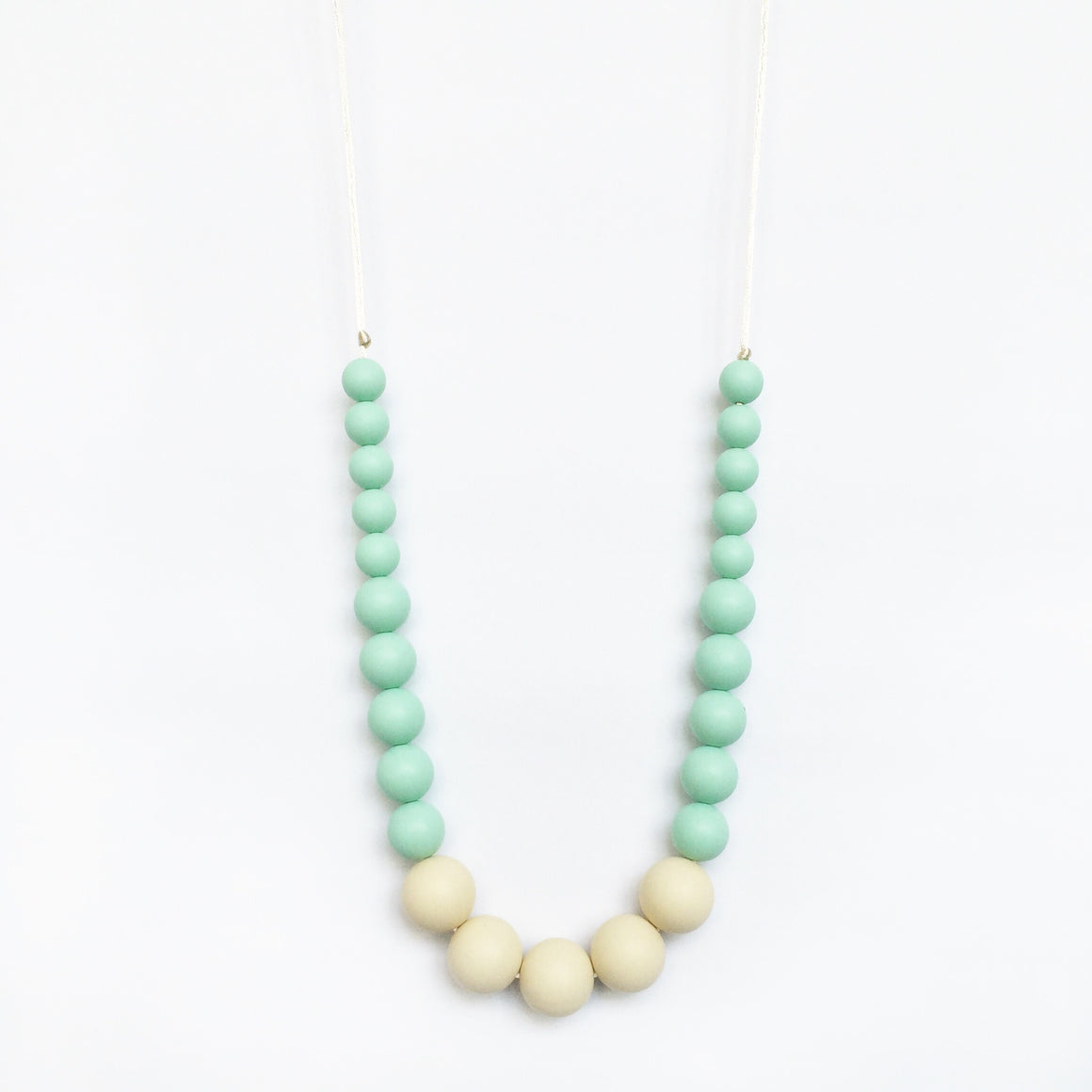 Color Block Silicone Necklace - Mint