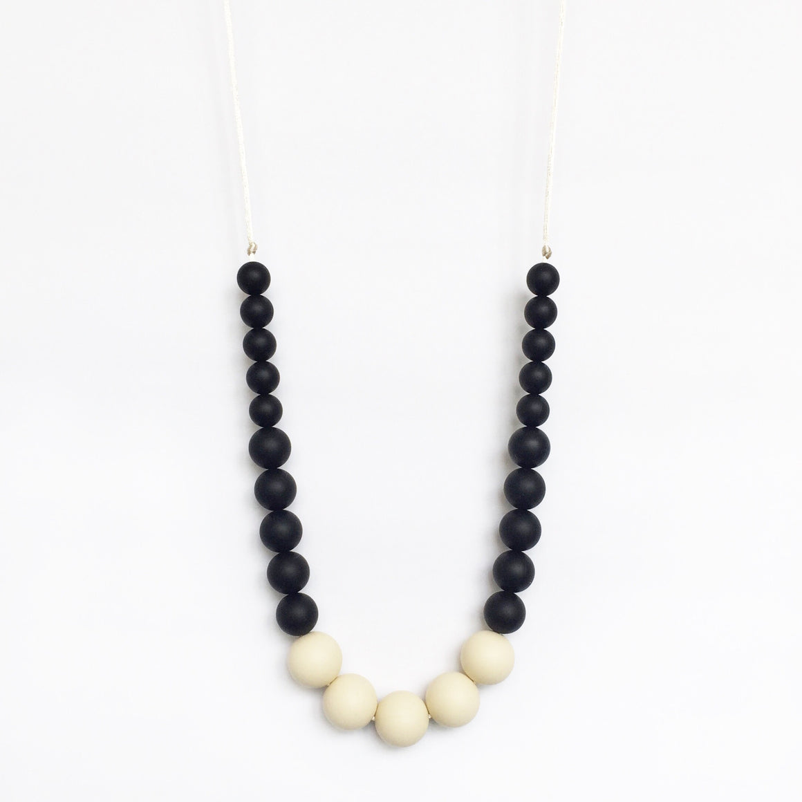 Color Block Silicone Necklace - Black