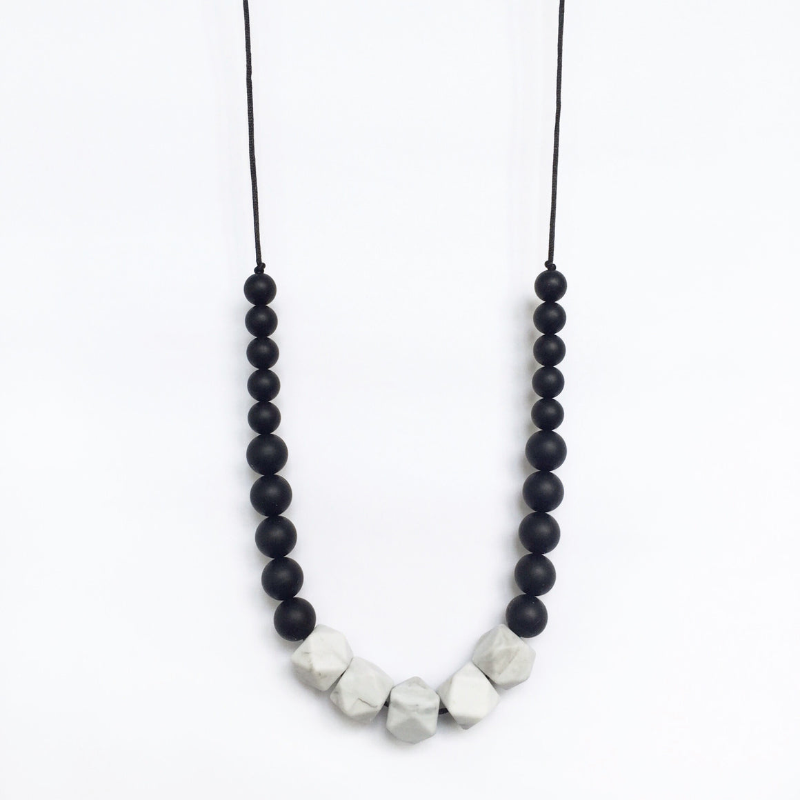 Marble Silicone Necklace - Black