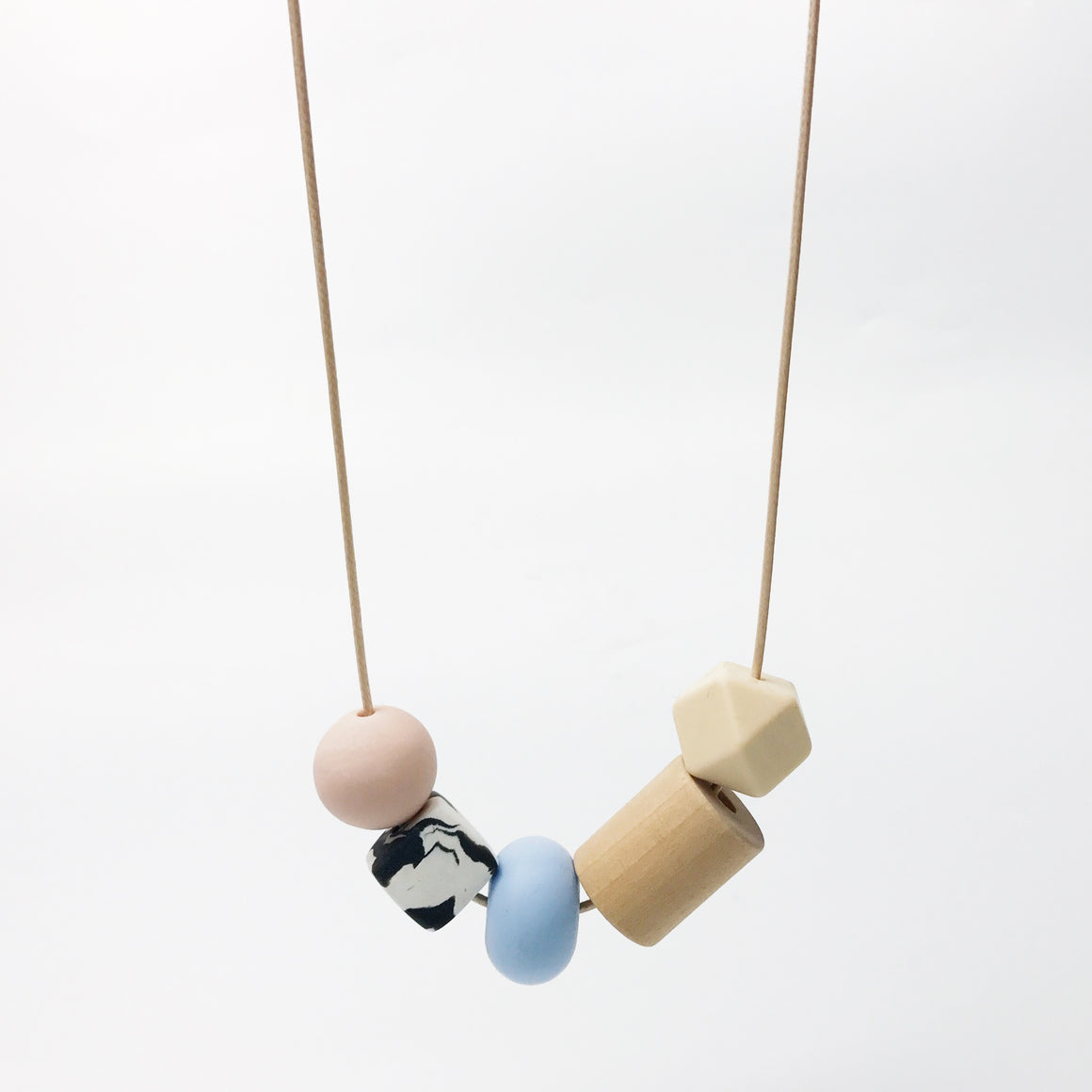 Mixed Shapes Necklace - Pastel