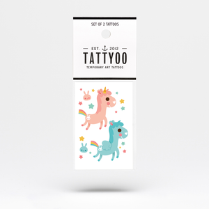 Magic Horses Temporary Tattoo Set