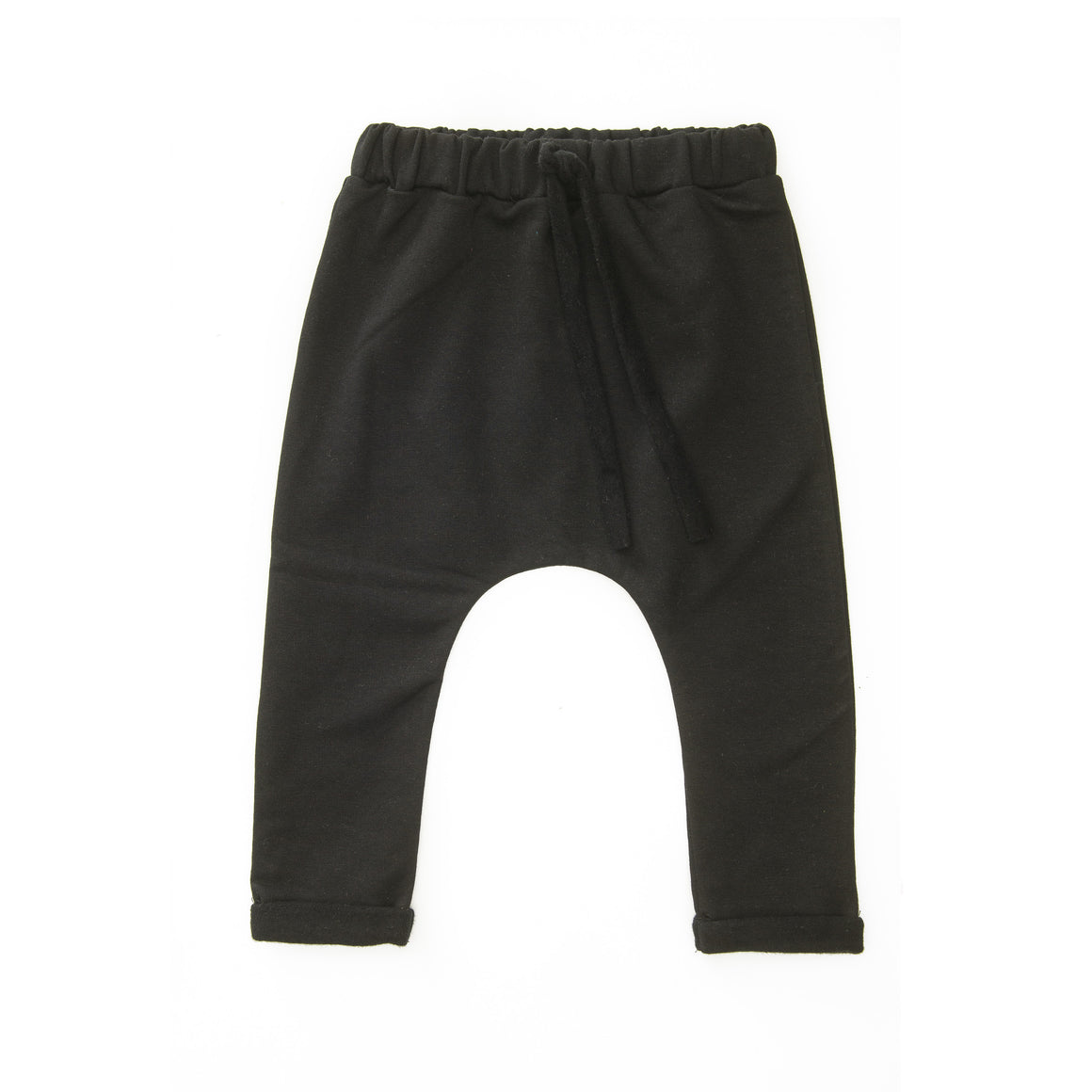 Harem Pants Brushed Teddy - Black