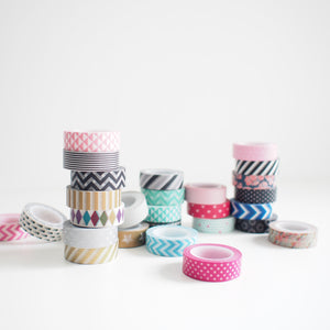 Washi Tape - Red Diagonal Stripes