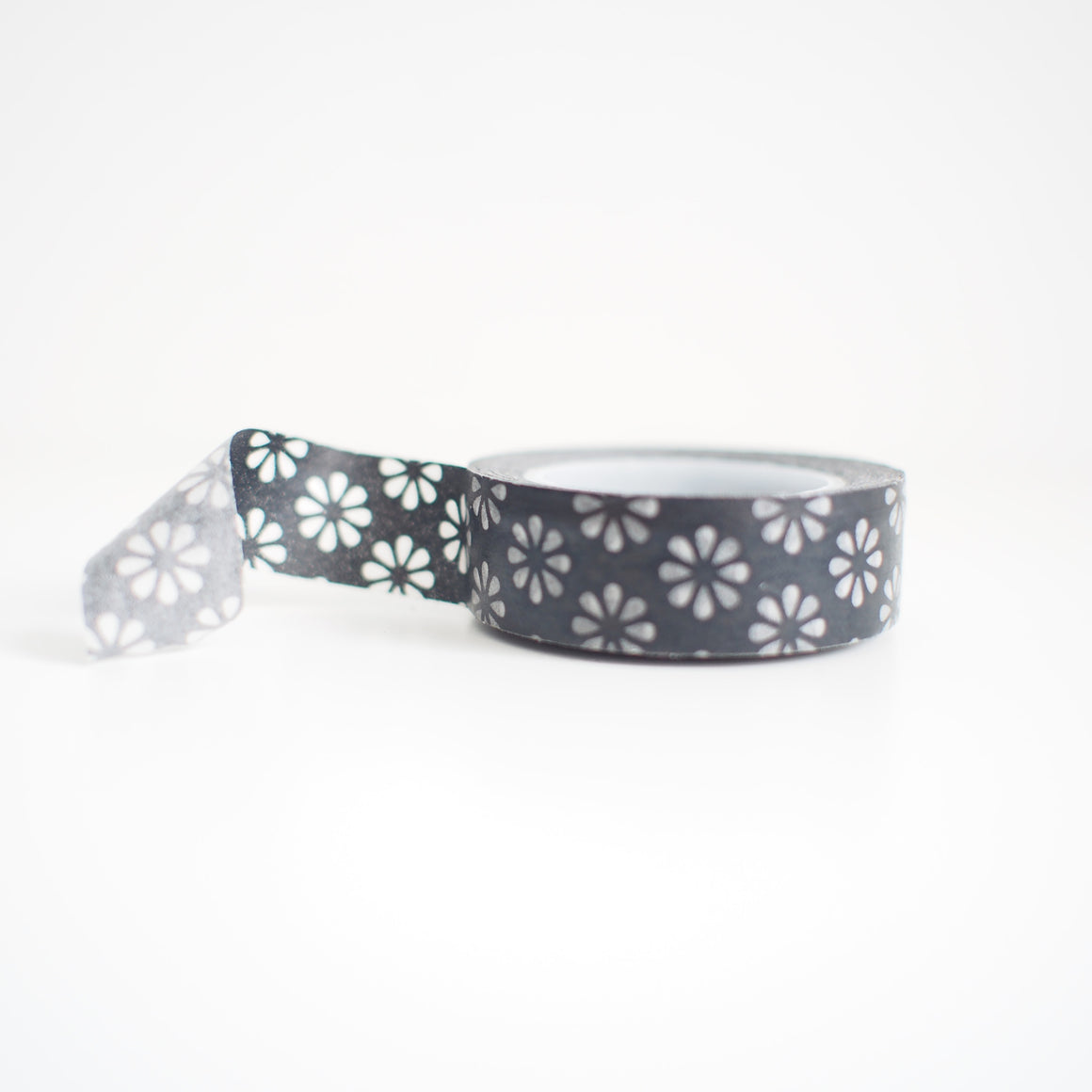 Washi Tape - Black Flower