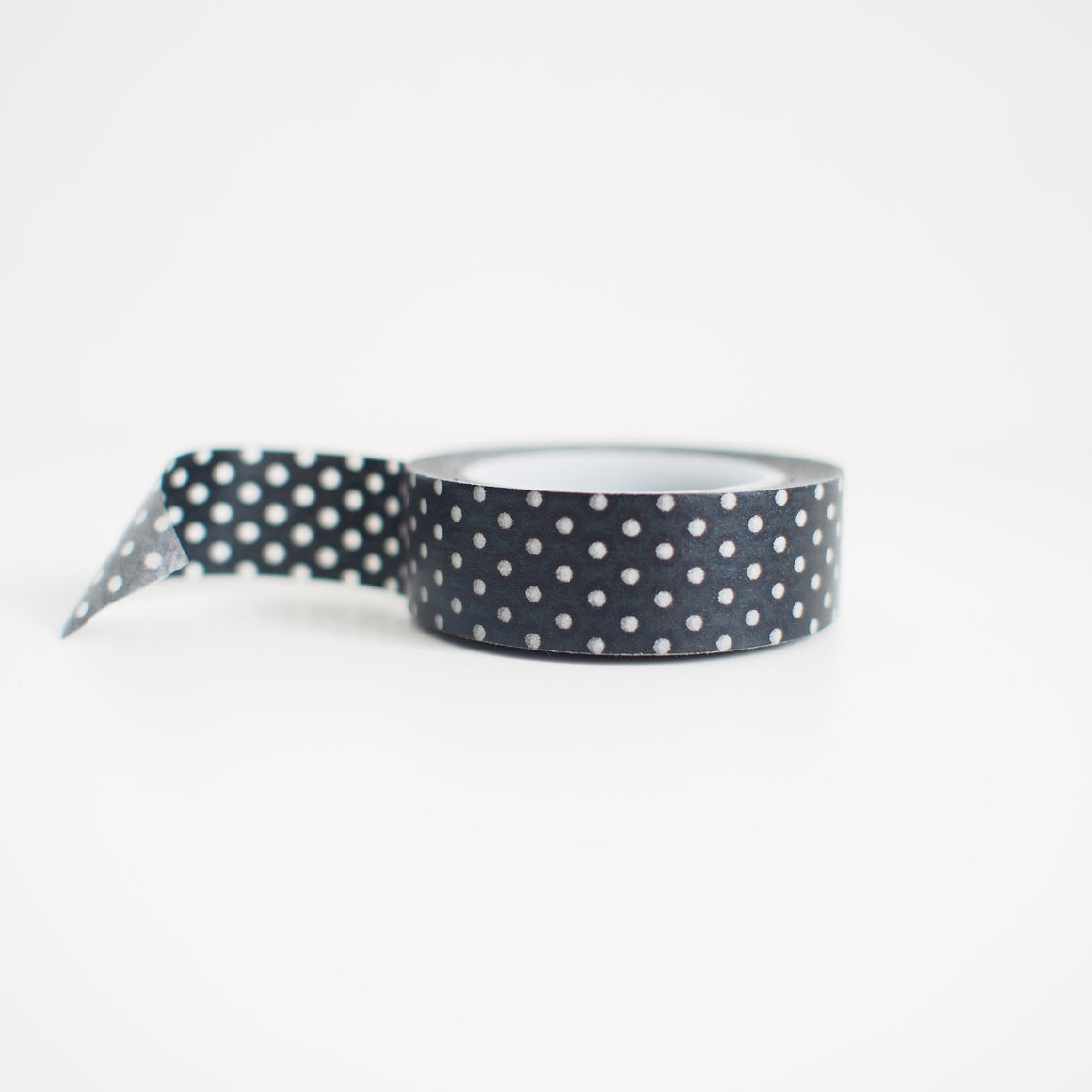 Washi Tape - White On Black Dots