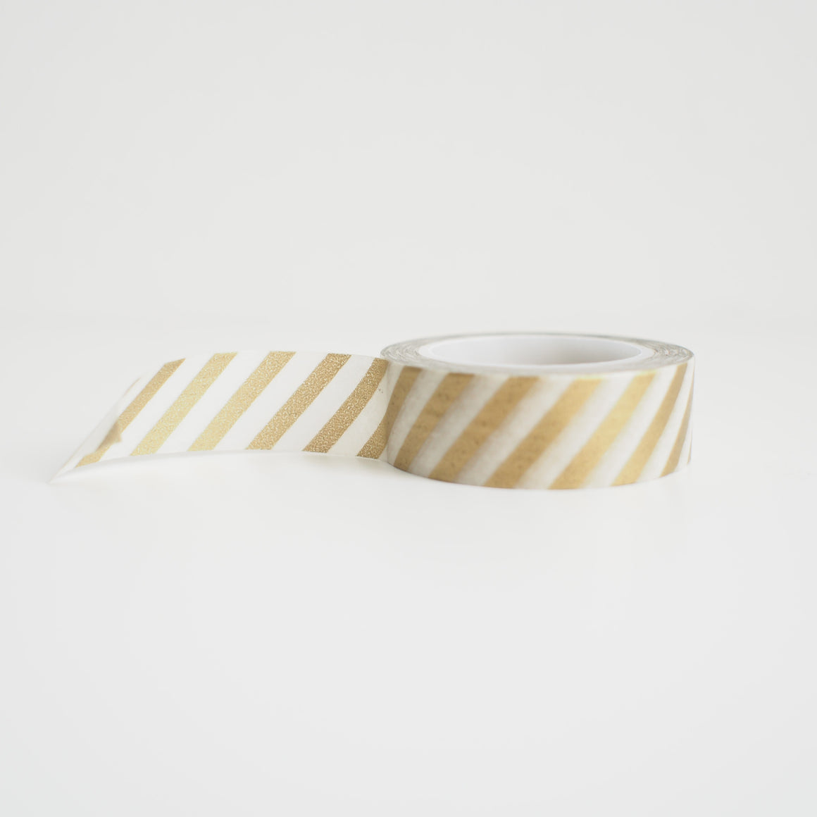 Washi Tape - Gold Diagonal Stripes