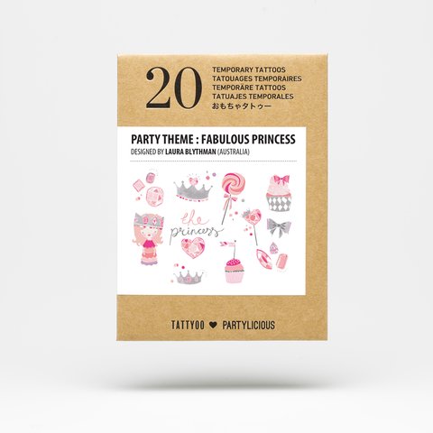 Fabulous Princess Temporary Tattoo Set
