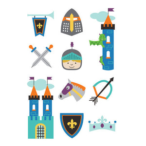 Brave Knights Temporary Tattoo Set