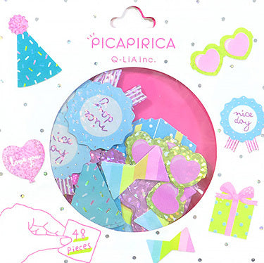 Holographic and Neon Seal Sticker Set - Party