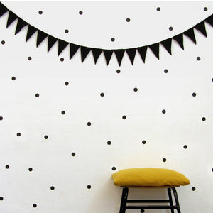 Black Dots Vinyl Wall Decals