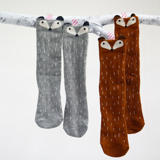 Raccoon Knee Socks