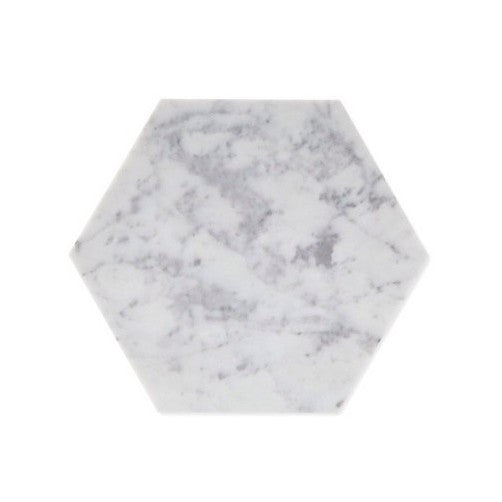 Carrara Marble Hexagon Trivet
