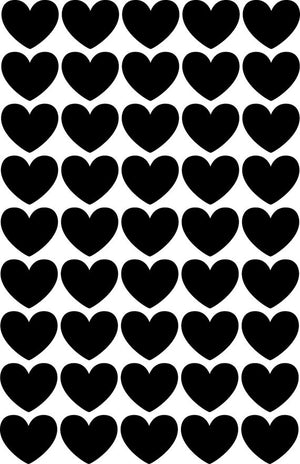 Black Hearts Vinyl Wall Decals