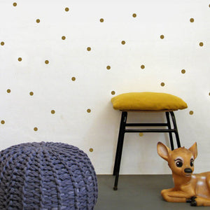 Gold Dots Vinyl Wall Decals