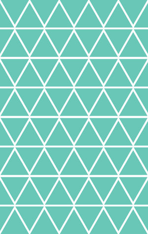 Mint Triangle Vinyl Wall Decals