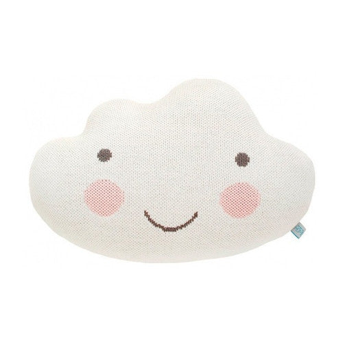 Cloud Cushion - White with Pink Cheeks