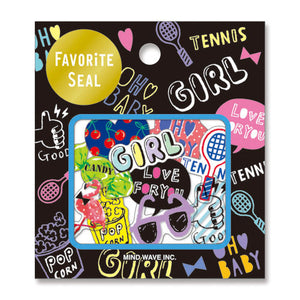 Favourite Seal Sticker Set - Fun Girl