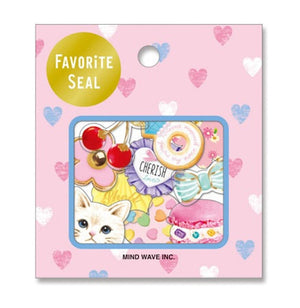 Favourite Seal Sticker Set - Sweet Cat