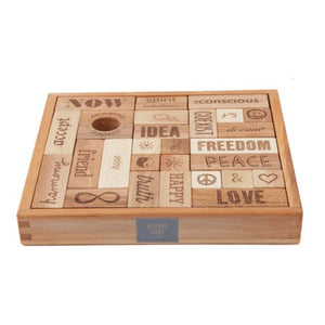 Peace & Love Wooden Blocks 29 Piece Set