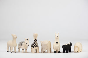 T-Lab Pole Pole Wooden Animal Alpaca