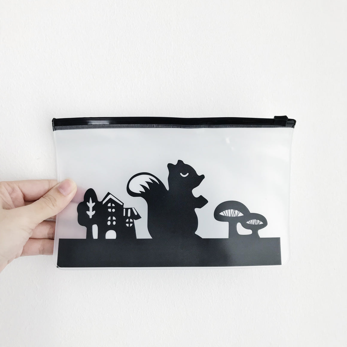 Woodlands Animal Ziplock Pouch - Squirrel