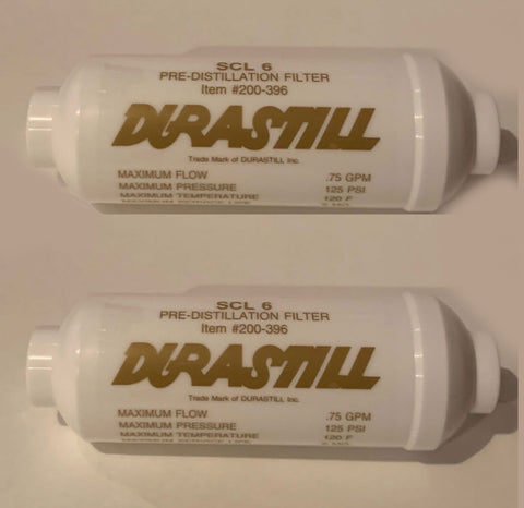 "2-Pack Durastill Scale Inhibitor (Gold Label) Pre-Filter 6"" #200-396. FREE Continental USA Shipping (48 States)"