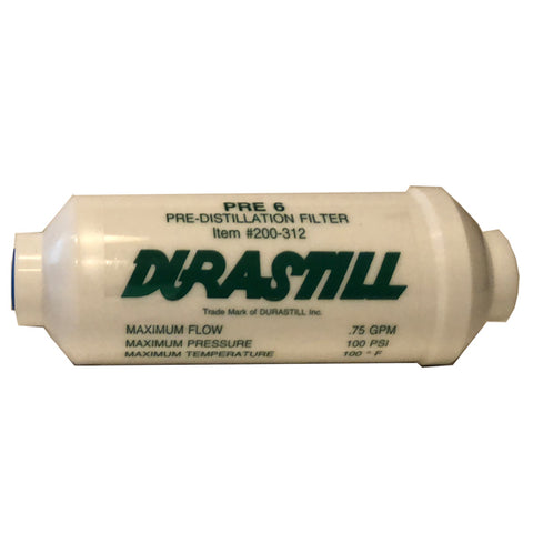 "Single Durastill Pre-Filter 6"" #WD200-312. Original Manufacturer Equipment"