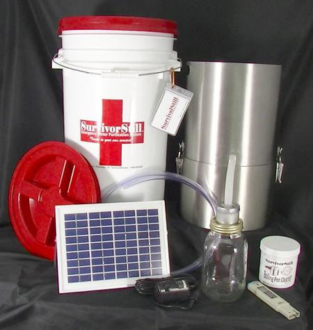 Solar Powered Non Electric Emergency Water Distiller And
