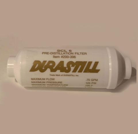 "Single Durastill Scale Inhibitor (Gold Label) Pre-Filter 6"" #WD200-396. Original Manufacturer Equipment"