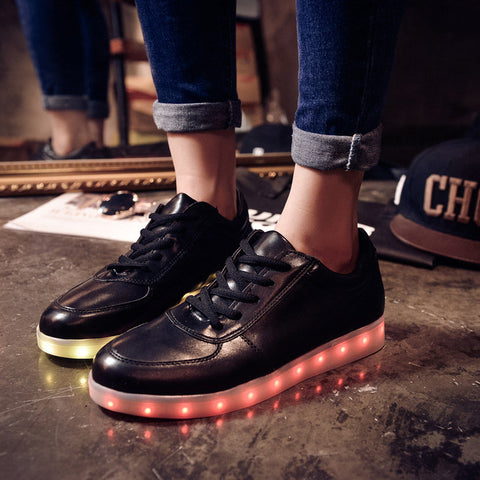 Womens Fashion basket Led shoes for adults Men Women Luminous light up shoes  for adults glowing 259f310fa