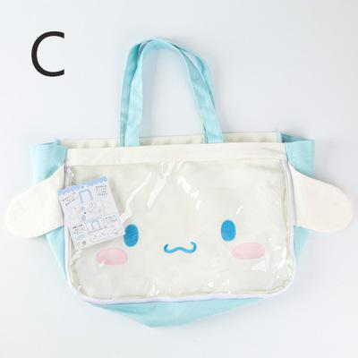 ... Japanese New Toy Hello Kitty My Melody Cinnamoroll Dog Pudding Dog  Plush Backpack Children s Woman Shoulder 4d8c658e1a279