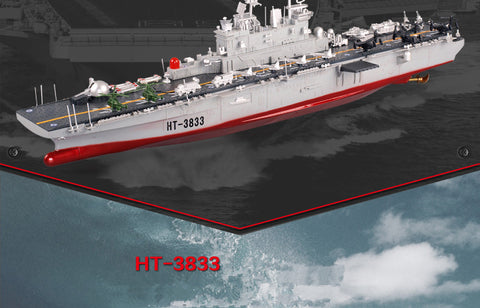 New RC warship ht-3833 2 4G wireless remote control 1:350 American hornet  amphibiour assault remote control rc boat ship model