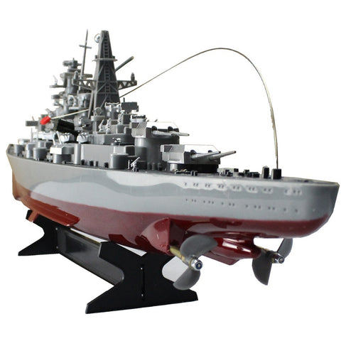 RC Boat WarShip Remote Control Military Naval Vessel Hovercraft Battle  Wagon Simulation Military Ship Electronic Model Toys