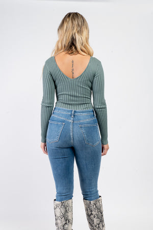 Streamlined Bodysuit | Sage - MishMash Boutique