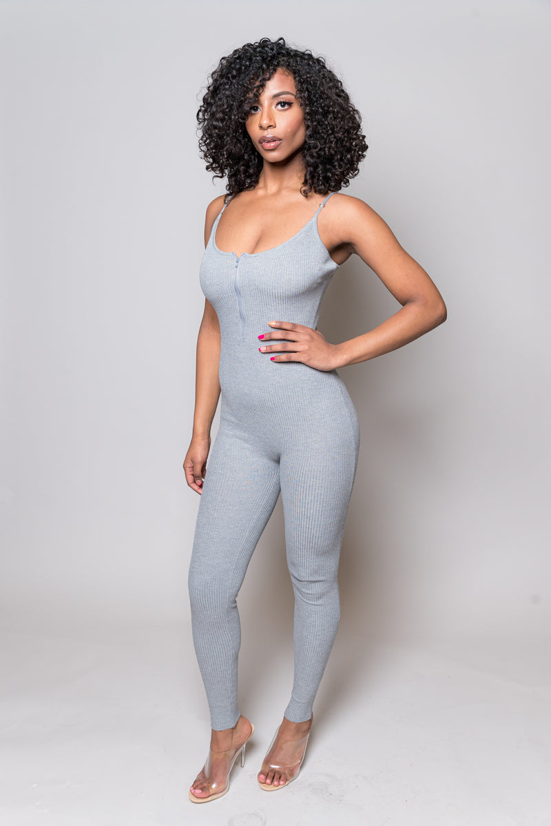 Skylar Jumpsuit | Grey - MishMash Boutique