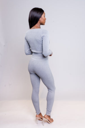 Come Thru Set | Grey - MishMash Boutique