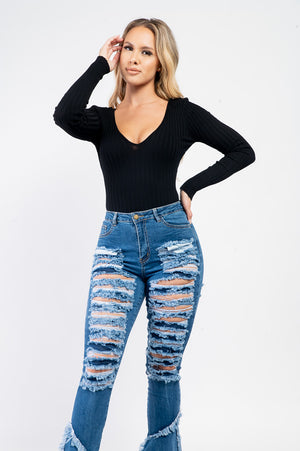 Streamlined Bodysuit | Black - MishMash Boutique