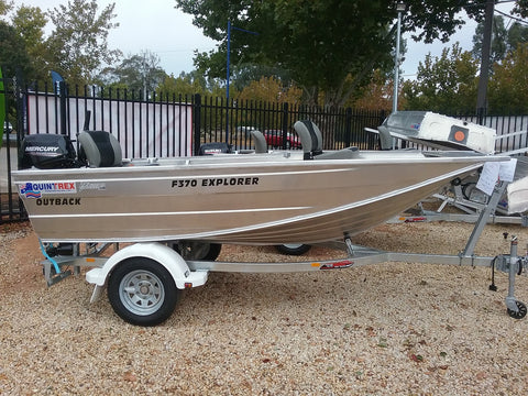 NEW QUINTREX F370 EXPLORER OUTBACK & TRAILER