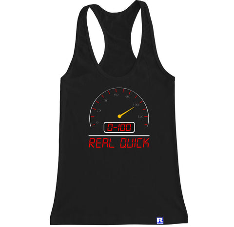 Women's JDM 0-100 REAL QUICK Racerback Tank Top